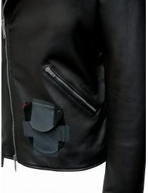 D.D.P. Iconic Brand chiodo in pelle nero giubbini uomo acquista online