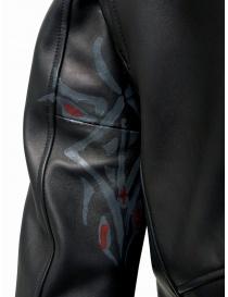 D.D.P. Iconic Brand chiodo in pelle nero giubbini uomo prezzo