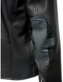 D.D.P. Iconic Brand chiodo in pelle nero acquista online prezzo