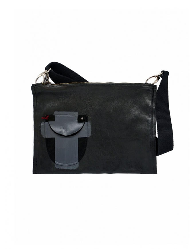 D.D.P. black leather briefcase with pocket BC001 CARTELLA CUOIO bags online shopping