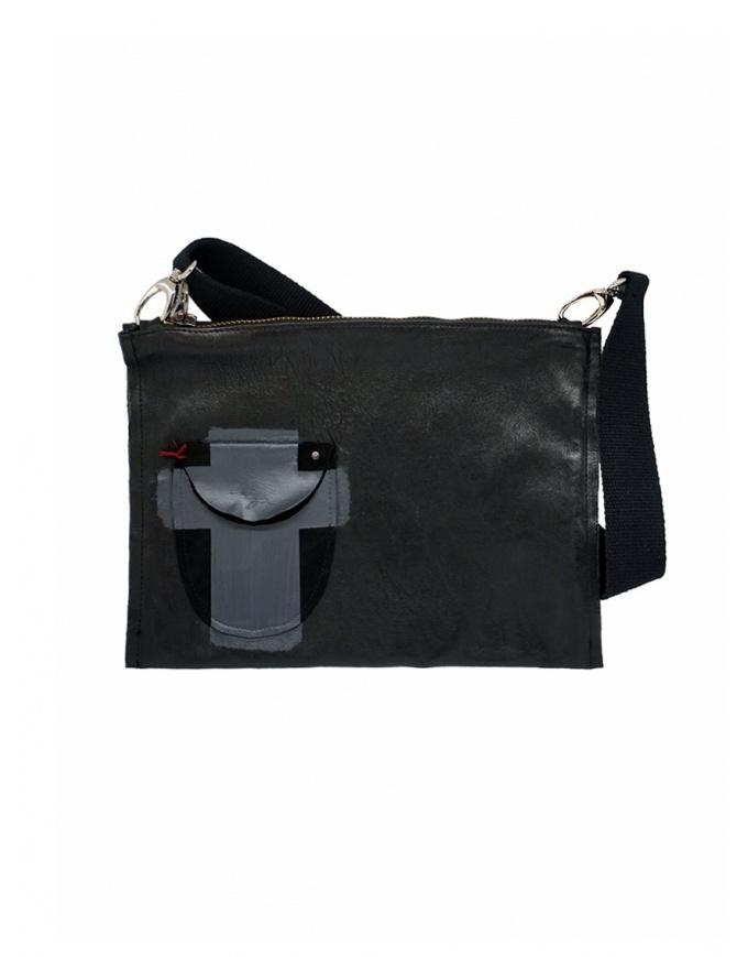 D.D.P. cartella in cuoio nera con taschino BC001 CARTELLA CUOIO borse online shopping