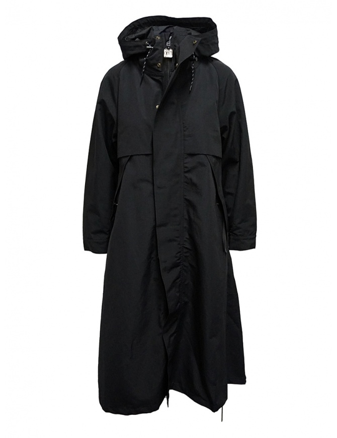 Black Kapital coat with floral lining detail EK-806 BLACK womens coats online shopping