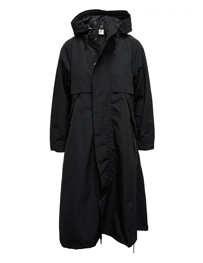 Cappotto Kapital nero con dettaglio fodera a fiori EK-806 BLACK cappotti donna online shopping