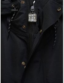 Cappotto Kapital nero con dettaglio fodera a fiori cappotti donna acquista online