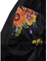 Cappotto Kapital nero con dettaglio fodera a fiori prezzo EK-806 BLACKshop online