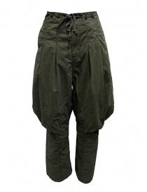 Pantaloni donna online: Kapital pantaloni cargo lacci dietro le ginocchia