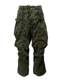 Mens trousers online: Kapital khaki cargo pants wide on the sides