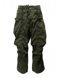 Pantaloni uomo online: Kapital pantaloni cargo khaki larghi ai lati
