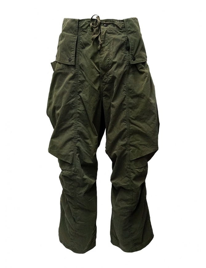Kapital khaki cargo pants wide on the sides K1909LP049 KHA mens trousers online shopping