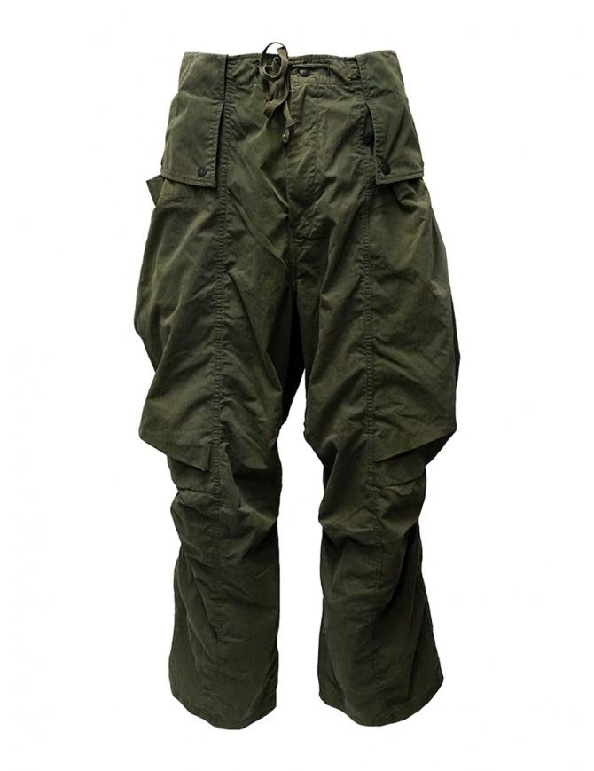 Kapital pantaloni cargo khaki larghi ai lati K1909LP049 KHA pantaloni uomo online shopping