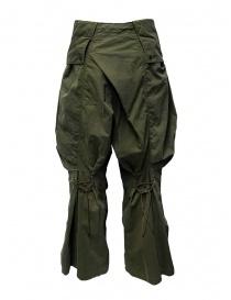 Kapital pantaloni cargo khaki larghi ai lati prezzo
