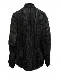 Cardigan Kapital in maglia grigia e nera