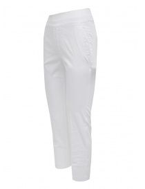 European Culture white elastic waist pants