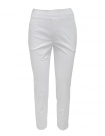 European Culture pantaloni elastico in vita bianchi online
