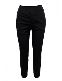 European Culture black elastic waistband pants online