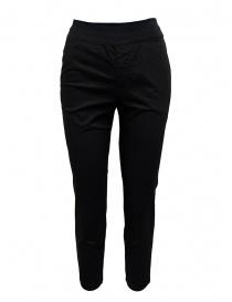 Pantaloni donna online: European Culture pantaloni neri con elastico in vita