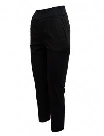 European Culture pantaloni neri con elastico in vita
