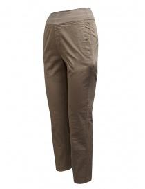 European Culture pantaloni beige a fascia alta
