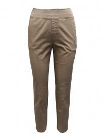 European Culture pantaloni beige a fascia alta 065U 3822 1337 order online