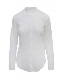 European Culture camicia coreana maniche lunghe bianca online