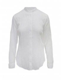 European Culture white long-sleeve Mandarin shirt online