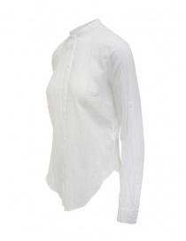European Culture camicia coreana maniche lunghe bianca