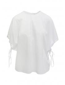 European Culture camicia con maniche a pipistrello bianca online