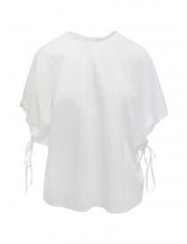 European Culture white bat sleeve shirt online