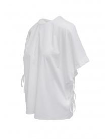 European Culture camicia con maniche a pipistrello bianca