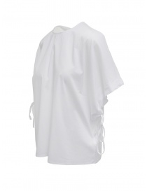 European Culture white bat sleeve shirt