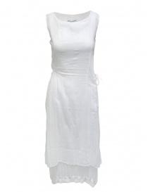 European Culture abito bianco smanicato in cotone 18GU 7504 1101 order online