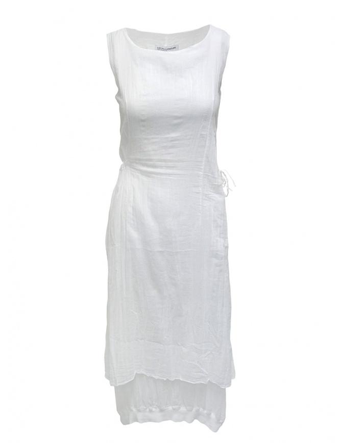 European Culture abito bianco smanicato in cotone 18GU 7504 1101 abiti donna online shopping