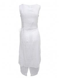 European Culture abito bianco smanicato in cotone