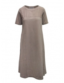 Womens dresses online: European Culture long beige linen and cotton dress
