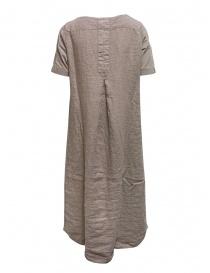European Culture abito lungo in lino e cotone beige