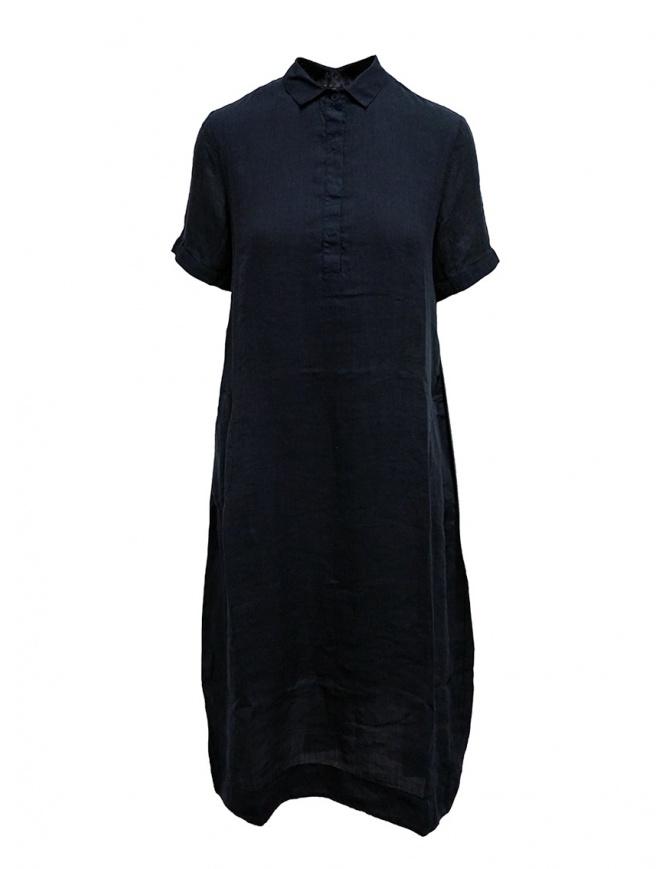 European Culture abito lungo a camicia blu 14B0 7027 1508 abiti donna online shopping