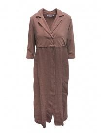 Giubbini donna online: European Culture giacca lunga in felpa e lino