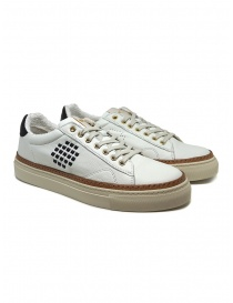 BePositive Anniversary white sneakers with golden eyelets online