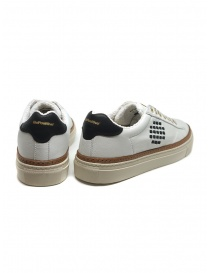BePositive Anniversary white sneakers with golden eyelets price