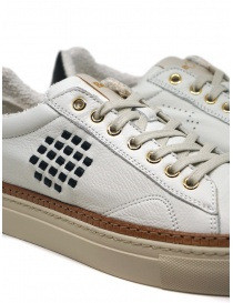 BePositive Anniversary white sneakers with golden eyelets mens shoes buy online