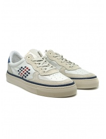BePositive X Veeshoes white and blue Track sneakers online