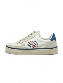 BePositive X Veeshoes white and blue Track sneakers