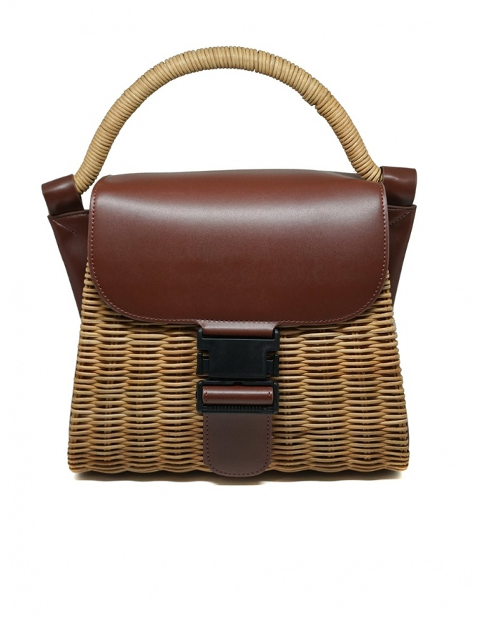 Zucca wicker and brown eco-leather bag ZU07AG125-05 BROWN bags online shopping