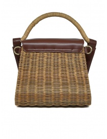Zucca wicker and brown eco-leather bag price