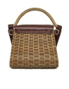 Zucca wicker and brown eco-leather bag ZU07AG125-05 BROWN price