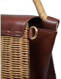 Zucca wicker and brown eco-leather bag bags buy online