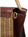 Zucca borsa in vimini ed ecopelle marrone ZU07AG125-05 BROWN acquista online