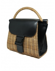 Zucca wicker and black eco-leather bag