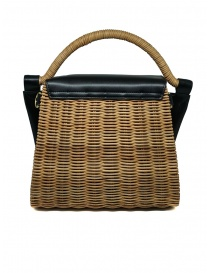 Zucca wicker and black eco-leather bag price