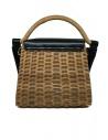 Zucca wicker and black eco-leather bag ZU07AG125-26 BLACK price